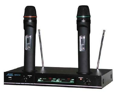 Audio2000'S AWM6112 Recharge VHF dual channel Mic Set