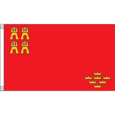 Murcia Flag 5Ft X 3Ft Spanish Spain Region Provence Banner With 2 Eyelets New