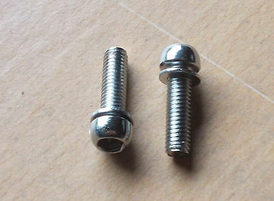 4 x M6 Dome Head Stainless Steel bolts for Stems - also good for Brakes