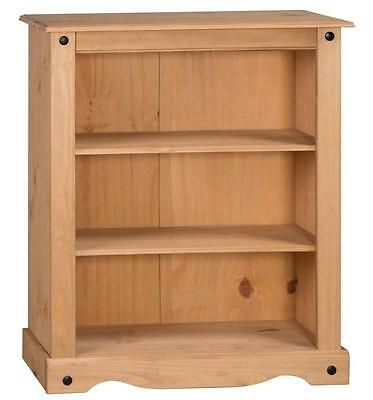 Mercers Furniture® Corona Mexican Pine Small Low 2 Shelf Bookcase