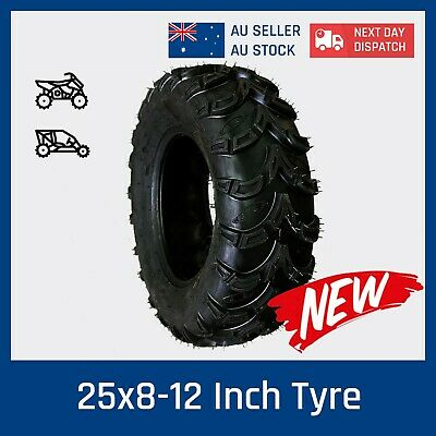 6 ply 25 x 8 - 12 Tyre for ARCTIC CAT 375 400 454 2WD/4WD ATV UTV QUAD