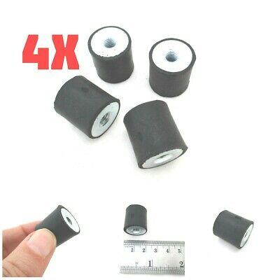 4pcs M6 20*20mm Anti Vibration Mounts Female Female FF Rubber Isolators Bobbins