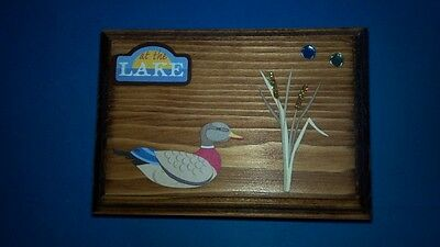 Decorative Wooden Box-At the Lake with Duck, Seal a Kiss