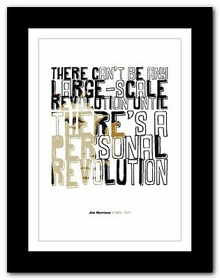 Jim Morrison ❤ typography quote poster art limited edition print The Doors #39