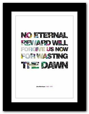 Jim Morrison ❤ typography quote poster art limited edition print The Doors #47