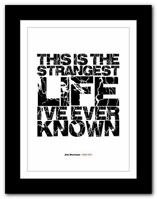 Jim Morrison ❤ typography quote poster art limited edition print The Doors #52