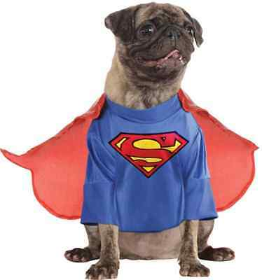 Superman Man of Steel Superhero Fancy Dress Up Halloween Pet Dog Cat Costume