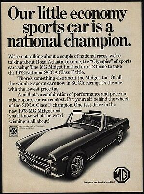 1973 MG MIDGET Convertible Sports Car - National Champion - VINTAGE AD