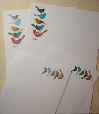 Colourful Birds Letter Writing Paper Stationery Set with matching envelopes