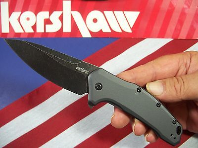 KERSHAW usa - LINK Blackwash 1776GRYBW spring assist FLIPPER SpeedSafe knife KAI