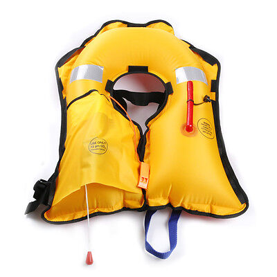 New Adult Automatic Manual Inflatable PFD Life Jacket Vest Fits 52'' Chest Size
