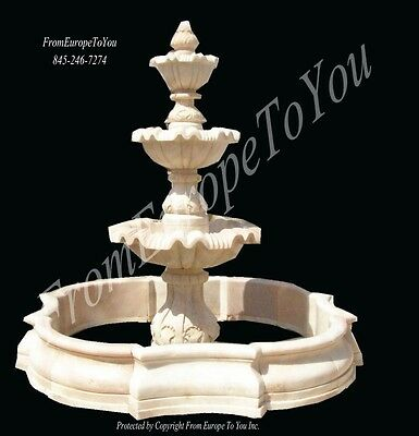 Hand Carved Sunshine Marble European Style Classical Fountain Fnt240