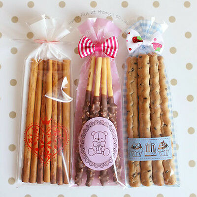 Long Pocky Cello Cellophane Wedding Party Favour Sweet Candy Gift Craft Bags