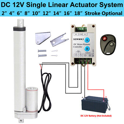 12V Heavy Duty DC Linear Actuator +Positive Inversion Controller +Mount Brackets