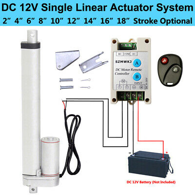 DC 12V 330lbs Linear Actuator &Bracket &Wireless Controller for Electric Medical