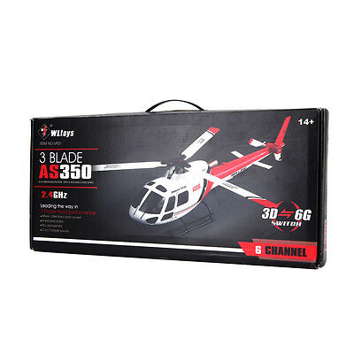 Wltoys V931 6CH Brushless Motor Flybarless 3 Blade AS350 Scale Helicopter BNF