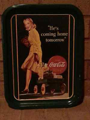 """""""HE'S COMING HOME"""" COCA-COLA TRAY"""