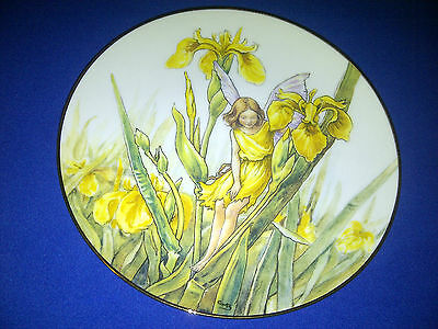 The Iris Fairy Collectible Plate A483 With COA Cicely Mary Barker Danbury Mint