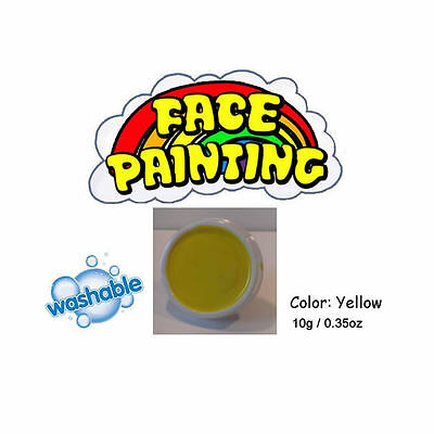 Yellow Face paints body painting stage make-up - fancy dress party accessory