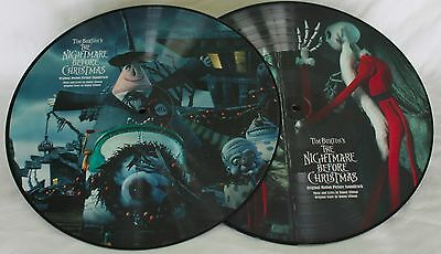 NEW Disney Nightmare Before Christmas Vinyl Record Soundtrack 2 Picture Disc Set
