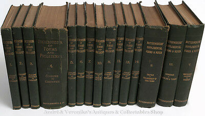 1902 Encyclopaedia of LAW FORMS & PRECENDENTS Set LEGAL WORDING Reference Books