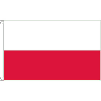 Poland Large Flag 8Ft X 5Ft Polish Pole Country Banner With 2 Metal Eyelets