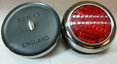 Land Rover Series 1 2 2a quality Lucas type RER25 Chrome Brass Reflectors x2