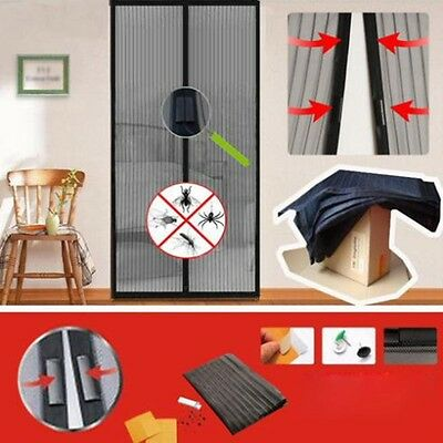 Hands Free New Magic Mesh Screen Net Door with magnets Anti Mosquito Bug Curtain
