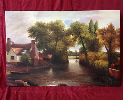 """*The Mill Stream* by Constable. Hand Painted Oil On Canvas Replica (24""""x36"""")"""