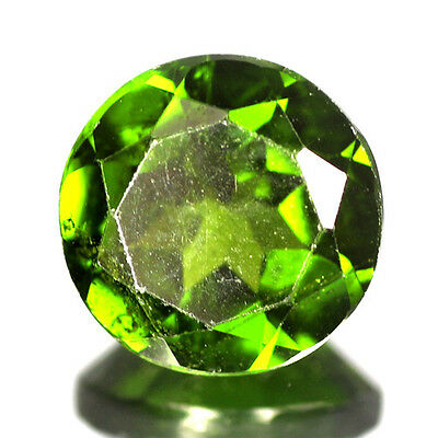 1.52ct RARE QUALITY RUSSIAN GREEN COLOR NATURAL CHROME DIOPSIDE GEMSTONE