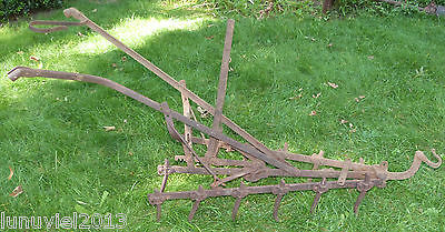 Antique Vintage Pulled Drawn Harrow Plow Cultivator Iron/steel Farm Rastus