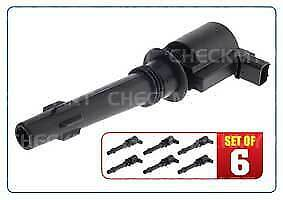 Delphi Ignition Coil Set of 6 fits Ford Falcon BA BF 2002-2007 4.0L 6 Cylinder