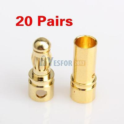 New 80 Pcs 3.5mm Gold-plated Bullet Banana Plug Connector RC Battery Male/&Female