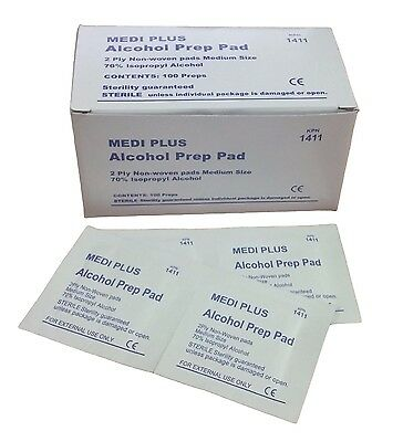 Medi Plus Alcohol Prep Pad (Pack of 100) IFAK EMT EMS First Aid Kit Disinfection