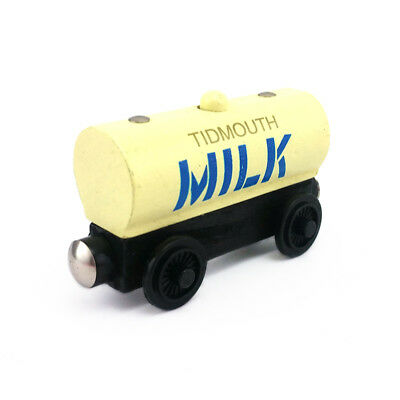 Thomas & Friends Tidmouth Milk Tanker Wooden Magnetic Toy Train Loose New