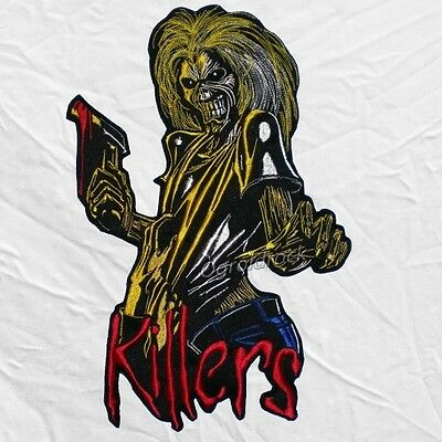 Iron Maiden Killers Logo Embroidered Big Patch Cover Eddie with Axe The Trooper