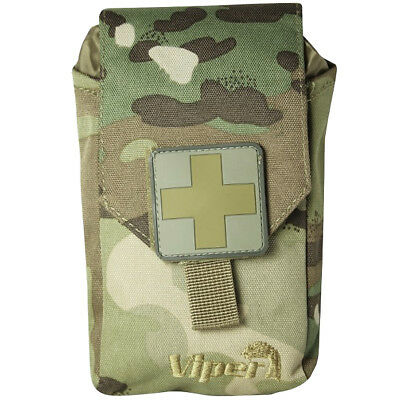 Viper Tactical Army First Aid Kit Hiking Paintball Airsoft Emergency Pouch V-Cam