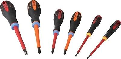 Bahco Mixed Insulated ERGO Screwdriver Set 6 Piece SL/PH/PZ