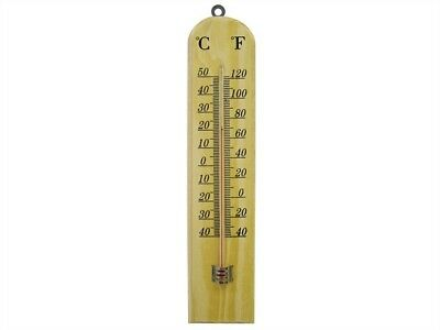 Faithfull Thermometer Wall Wood 260mm