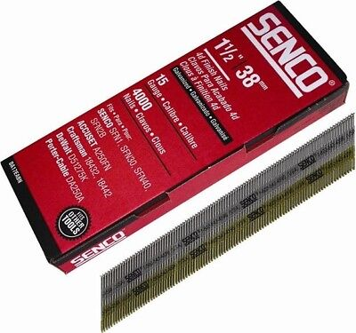Senco Chisel Smooth Brad Nails Galvanised 15G x 38mm Pack of 4,000