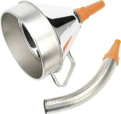 Sealey Funnel Metal with Flexible Spout & Filter 200mm