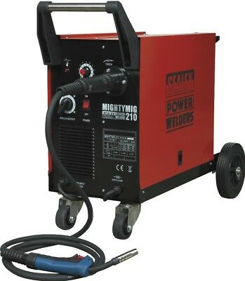 Sealey Professional Gas/No-Gas MIG Welder 210Amp with Euro Torch
