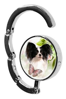 Papillon Dog Table Bag Handbag Purse Hanger Hook-2 paws2print