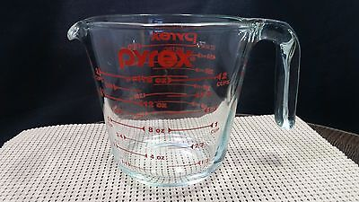 Measuring Cup Pyrex Prepware 2 Cup Clear Glass Red Measurements