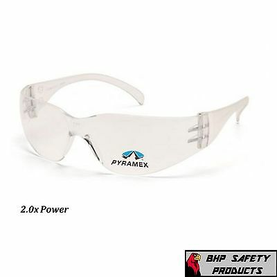Pyramex Intruder Reader Safety Glasses Clear Bifocal 2.0 Lens S4110R20 (1 Pair)