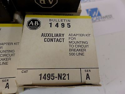 1495-N21 ALLEN BRADLEY  1495N21  auxiliary contact adapter kit  500 line