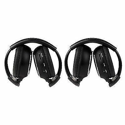 May Promo Pair Infrared Stereo Wireless Headphone 2x Headset for Car DVD Player