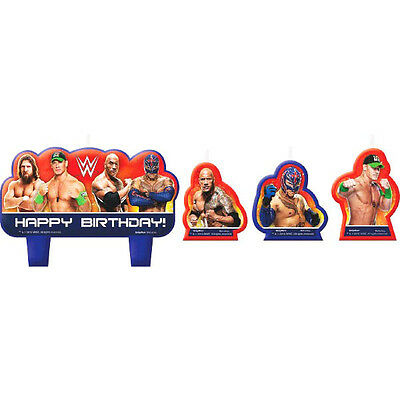 Wwe Wrestling Party Supplies Candles Set Of 4 Mini Moulded New Design