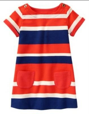 Gymboree Mod about Orange 2T 3T 4T 5T Blue Puppy Ponte Dress Dog short sleeve 14