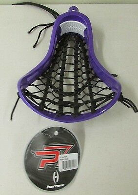 Harrow P7 Strung Lacrosse Head, Purple / Black